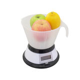 Scales with fruits Stock Photos