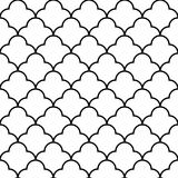 Scales geometric seamless pattern, background, vector illustration Stock Photos