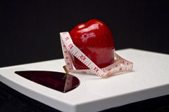 Scales Healthy Living Royalty Free Stock Photos