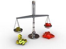 Scales with heart Stock Photography