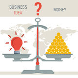 Scales - idea or money Stock Images