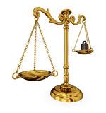 Scales of justice royalty free illustration