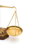 Scales of justice. Legal concept with scales of justice on white background Royalty Free Stock Images