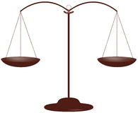 Scales of justice. Brown law Stock Photo