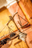 Scales of Justice in the Courtroom Stock Image