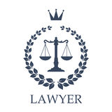 Scales of justice emblem for law firm design Royalty Free Stock Image
