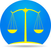 Scales of justice icon. A vector drawing represents scales of justice icon design Stock Photography