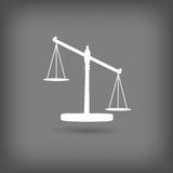 Scales of Justice icon Stock Images