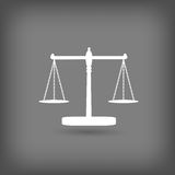 Scales of Justice icon Stock Photo