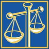 Scales of justice legal weighing Royalty Free Stock Photography