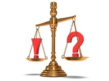Scales Justice On White. Isolated 3D. Stock Images