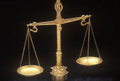 Scales of Justice, representing the legal systems and courts of United States royalty free stock image
