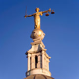 Scales of Justice statue Old Bailey London royalty free stock image