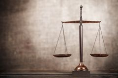 Scales of Justice. Weight Scale Balance Law Justice Gold Weight stock images