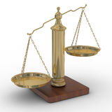 Scales justice on a white background. Stock Photography