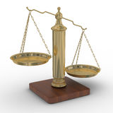 Scales justice on a white background. Royalty Free Stock Image