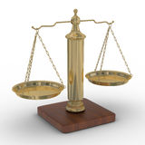 Scales justice on a white background. Stock Image