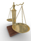 Scales justice on a white background. Stock Images