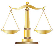 Scales of Justice. On white background illustration Royalty Free Stock Image