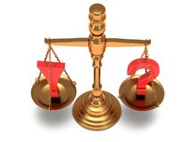 Scales justice on white.  3D. Stock Image