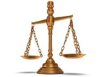 Scales justice on white.  3D. Stock Images