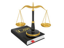 Scales on a law book Royalty Free Stock Photos