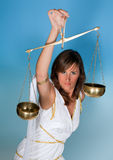 Scales or Libra woman Royalty Free Stock Images