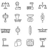 Scales line icons Stock Photography
