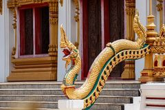 Scales of Naga statue on the front entrance Buddha's relics Stock Image
