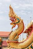 Scales of Naga statue on the front entrance Buddha's relics Stock Photo