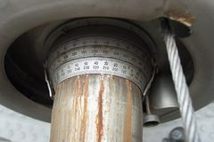 Scales of a periscope. Scales of management of a periscope Stock Images