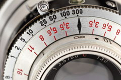 Scales on photo lens Stock Photography