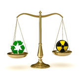 Scales recycling nuclear Royalty Free Stock Photography