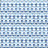 Scales seamless pattern. Abstract background. Blue and white colors Stock Images