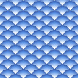 Scales seamless pattern. Abstract background. Blue and white colors Royalty Free Stock Photos