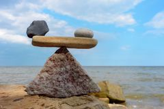 Scales on the seashore Stock Image
