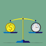 Scales, time is money Stock Photography