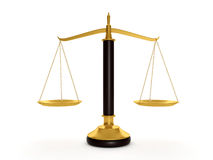 Scales to determine. 3d illustration: Scales to determine the weight of things Stock Photos