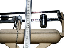 Scales to measure weight and height of children with obesity Royalty Free Stock Images