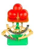 scales tre tomater Royaltyfri Fotografi