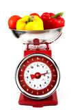 Scales with vegetables Stock Image