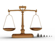 Scales and weights Royalty Free Stock Image