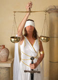 Scales Zodiac girl. Libra or Scales, this photo is part of a series of twelve Zodiac signs of astrology stock photography
