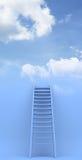 Scaletta al cielo. Successo. illustrazione 3d Immagini Stock Libere da Diritti