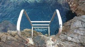 Scaletta al mare Immagine Stock