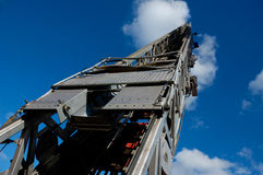 Scaletta del camion dei vigili del fuoco Fotografia Stock