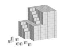 Scaletta del cubo Fotografia Stock