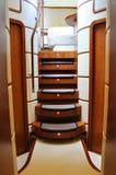 Scaletta dell'yacht di lusso Fotografia Stock