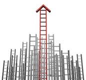 Scaletta della freccia di successo Fotografia Stock Libera da Diritti