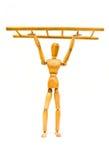 Scaletta della holding alta Fotografie Stock